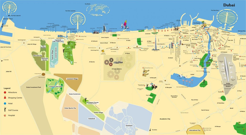 Карта дубая